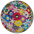 Fine Art - Work on Paper:Print, Takashi Murakami (b. 1962). Flowerball Multicolor, 2014.Offset lithograph in colors on smooth wove paper. 27-3/4 inch d...
