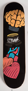 General Americana, Billionaire Boys Club X Pharrell. Heart and Mind, 2016.Screenprint in colors on skate deck. 32 x 8 ...