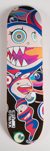 General Americana, Takashi Murakami X Complexcon. Untitled, 2016. Screenprintin colors on skate deck. 32 x 8 inches (81.3 x 20.3 cm). Publ...