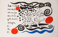 Fine Art - Work on Paper:Print, Alexander Calder (1898-1976). Lo oscuro invade mi cuerpo,1970. Lithograph in colors on Arches paper. 28-3/8 x 41-1/2 in...
