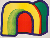 Howard Hodgkin (1932-2017) Arch (Composition with Red), 1970 Lithograph in colors Arches paper 19