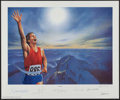 """Boxing Collectibles:Autographs, 1994 """"Victory"""" Signed Lithograph with Neil Armstrong, Muhammad Aliand Others.. ..."""