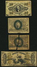 Fractional Currency:Third Issue, Four Fractionals Very Good or Better.. ... (Total: 4 notes)