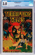 Golden Age (1938-1955):Horror, Terrifying Tales #13 (Star Publications, 1953) CGC GD/VG 3.0 Creamto off-white pages....