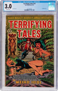 Golden Age (1938-1955):Horror, Terrifying Tales #14 (Star Publications, 1953) CGC GD/VG 3.0Off-white pages....