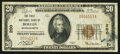 National Bank Notes:Massachusetts, Boston, MA - $20 1929 Ty. 1 The First NB Ch. # 200. ...