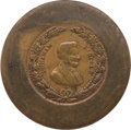 Political:Tokens & Medals, Abraham Lincoln: Possibly Unique Two-Sided Die-Trial of 1864 Campaign Medals. ...