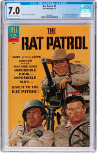 Rat Patrol #2 (Dell, 1967) CGC FN/VF 7.0 Off-white to white pages