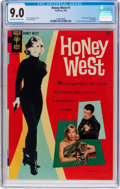 Silver Age (1956-1969):Adventure, Honey West #1 (Gold Key, 1966) CGC VF/NM 9.0 Off-white to white pages....