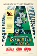 Movie Posters:Hitchcock, Strangers on a Train (Warner Brothers, 1951). One ...