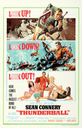 "Movie Posters:James Bond, Thunderball (United Artists, 1965). One Sheet (27"" X 41"") FullJetpack Style, Frank McCarthy with Robert McGinnis Artwork.. ..."