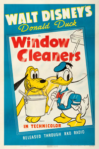 "Donald Duck in Window Cleaners (RKO, 1940). One Sheet (27"" X 41"")"