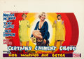 "Movie Posters:Comedy, Some Like It Hot (United Artists, 1959). Horizontal Belgian (14"" X20.5"").. ..."