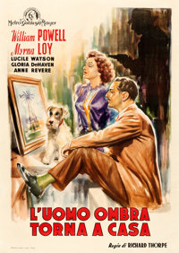 "The Thin Man Goes Home (MGM, Late 1940s). First Post-War Release Italian 2 - Fogli (39.5"" X 55.5"") Zadro Artwo..."