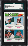 Baseball Cards:Singles (1970-Now), 1977 Topps Andre Dawson - Rookie Outfielders #473 SGC 98 Gem 10 -Pop One, None Higher! ...