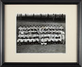 Baseball Collectibles:Photos, 1954 New York Giants Team Signed Oversized Photograph. . ...