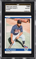 Baseball Cards:Singles (1970-Now), 1984 Fleer Update Kirby Puckett #U93 SGC 100 Pristine - Pop One!...