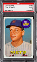 Baseball Cards:Singles (1960-1969), 1969 Topps Tom Seaver #480 PSA Mint 9 - Only One Higher....