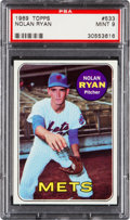 Baseball Cards:Singles (1960-1969), 1969 Topps Nolan Ryan #533 PSA Mint 9 - Only Two Higher....