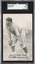 Baseball Cards:Singles (Pre-1930), 1921 Exhibits Babe Ruth SGC 55 VG/EX+ 4.5. . ...