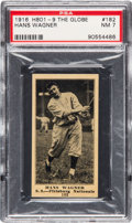 Baseball Cards:Singles (Pre-1930), 1916 H801-9 The Globe Honus Wagner #182 PSA NM 7 - One of Only TwoPSA Graded Examples! . ...