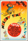 "Movie Posters:Animation, Melody Time (RKO, 1948). Swedish One Sheet (27.5"" X 39.5"").Animation.. ..."