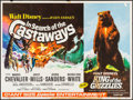 "Movie Posters:Adventure, In Search of the Castaways/King of the Grizzlies Combo (WaltDisney, R-1970). British Quad (30"" X 40""). Adventure.. ..."