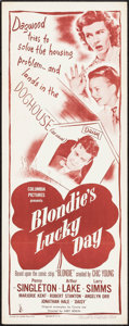 "Movie Posters:Comedy, Blondie's Lucky Day (Columbia, 1946). Insert (14"" X 36""). Comedy....."