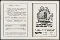 "20,000 Leagues Under the Sea (Universal Film Manufacturing, 1916). Herald (10.5"" X 7""). Science Fiction"