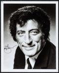 "Movie Posters:Musical, Tony Bennett (c. 1970s). Autographed Portrait Photo (8"" X 10"").Musical.. ..."