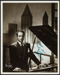 "Movie Posters:Musical, Victor Borge by Maurice Seymour & Others Lot (Maurice Seymour,c.1945). Autographed Photos (2) & Autographed Color Photo(8""... (Total: 3 Items)"