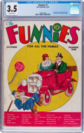 Platinum Age (1897-1937):Miscellaneous, The Funnies #1 (Dell, 1936) CGC VG- 3.5 Off-white pages....