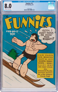 The Funnies #17 (Dell, 1938) CGC VF 8.0 Off-white to white pages