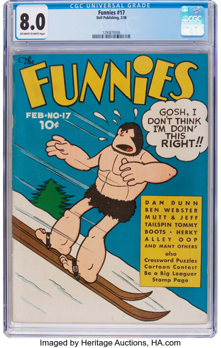 The Funnies #17 (Dell, 1938) CGC VF 8.0 Off-white to white pages....