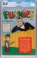 Platinum Age (1897-1937):Miscellaneous, The Funnies #8 (Dell, 1937) CGC VF 8.0 Off-white pages....