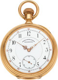 Timepieces:Pocket (pre 1900) , Elgin 21 Jewel Convertible 18k Gold For Bailey Banks & Biddle....