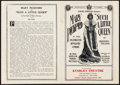 """Movie Posters:Comedy, Such a Little Queen (Paramount, 1914). Herald (5.5"""" X 7.5""""). Comedy.. ..."""