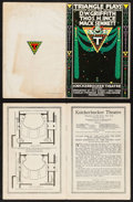 "Movie Posters:Miscellaneous, Triangle Plays (Knickerbocker Theatre, 1900s). Programs (2)(Multiple Pages, 6"" X 9""). Miscellaneous.. ... (Total: 2 Items)"