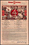 "Movie Posters:Serial, Republic Serials Booking Sheet (Republic, 1936). Booking Sheet (12""X 19""). Serial.. ..."