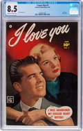 Golden Age (1938-1955):Romance, I Love You #1 (Fawcett Publications, 1950) CGC VF+ 8.5 Cream tooff-white pages....