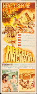 "Movie Posters:Action, Hercules Unchained (Warner Brothers, 1959). Insert (14"" X 36"").Action.. ..."