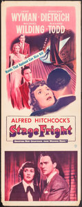 "Movie Posters:Hitchcock, Stage Fright (Warner Brothers, 1950). Insert (14"" X 36"").Hitchcock.. ..."