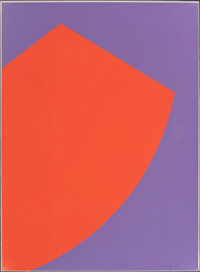 Leon Polk Smith (1906-1996) Untitled (Red/Purple), n.d. Lithograph in colors on paper 30 x 22 inc