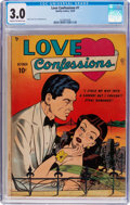 Golden Age (1938-1955):Romance, Love Confessions #1 (Quality, 1949) CGC GD/VG 3.0 Cream tooff-white pages....