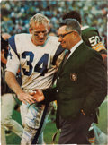 Football Collectibles:Photos, 1960's Vince Lombardi Signed Magazine Photograph....