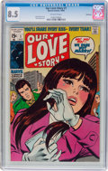 Silver Age (1956-1969):Romance, Our Love Story #1 Northland Pedigree (Marvel, 1969) CGC VF+ 8.5Off-white pages....