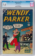 Golden Age (1938-1955):Humor, Wendy Parker Comics #1 (Atlas, 1953) CGC FN/VF 7.0 Off-white towhite pages....