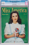 Golden Age (1938-1955):Romance, Miss America Magazine V4#3 (Miss America Publishing, 1946) CGC VF/NM 9.0 Off-white to white pages....