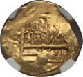 Colombia, Colombia: Philip IV gold Cob 2 Escudos ND (1628-55)-NR AU58 NGC,...