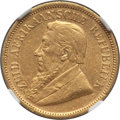 South Africa, South Africa: Republic gold 1/2 Pond 1895 AU53 NGC,...